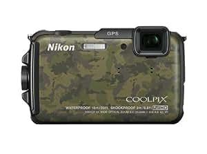 """Nikon Coolpix AW110 Appareil photo numérique compact 16 Mpix Écran LCD 3"""" Zoom optique 5X Camouflage"""