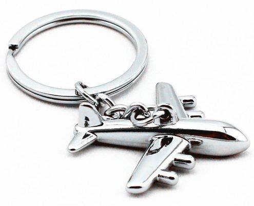 Kolossalz Aeroplane Metal Key Chain (Silver) || Cruzer Bike Keychain Antique Brass Color Key Chain Royal Enfield...