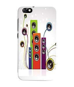 Fuson 3D Printed Music wallpaper Designer Back Case Cover for Huawei Honor 4X - D693