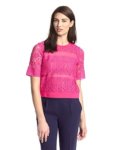 Rebecca Taylor Women's Patch Lace Top