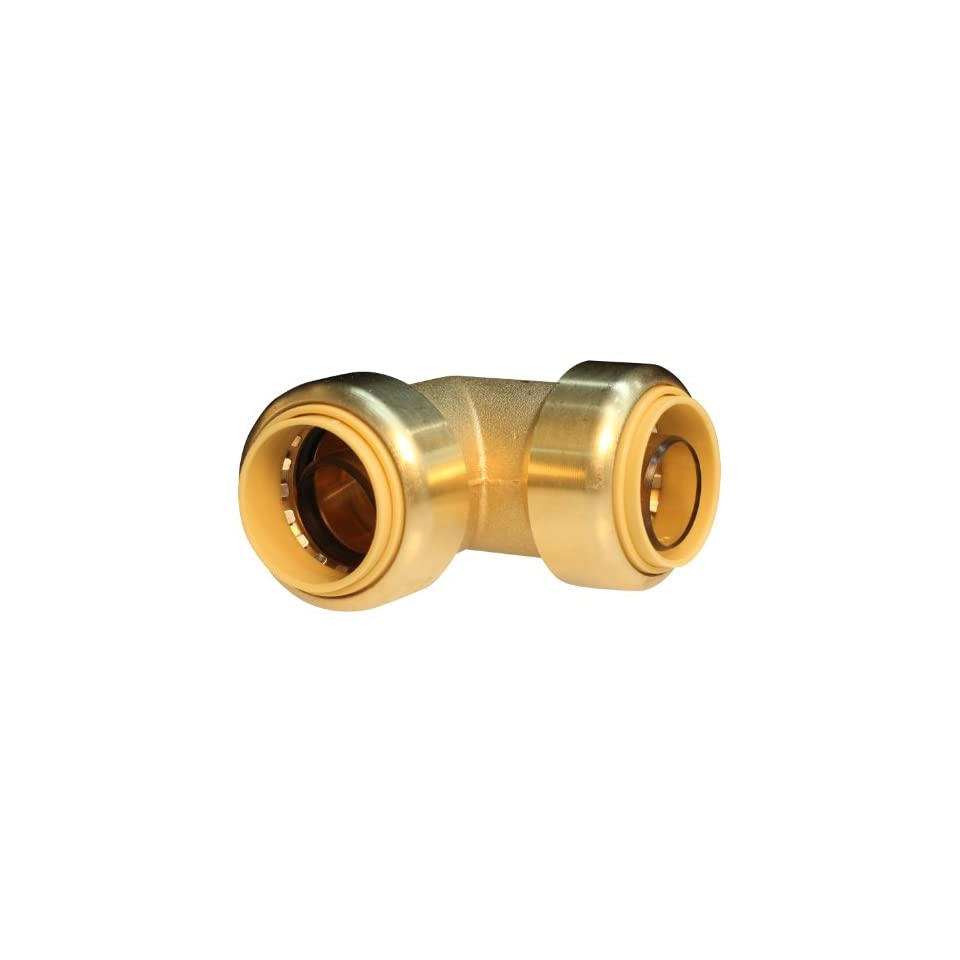 Push Connect PC LF813 1/2 Inch Push by 1/2 Inch Push, Lead Free Brass Push Fit Elbow
