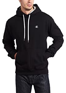 Champion Eco Fleece Pullover Hoodie, Black, Large
