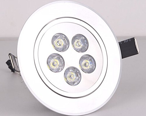 Lightmate® 5W/Cut-Out Dimension:90-100Mm/Household Office Led Cool White Round Recessed Ceiling Cabinet Light Lamp Bulb Downlight Ac85V - 265V+ Led Driver