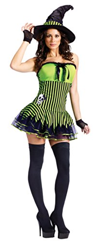 Funworld Womens Sexy Evil Rockin' Witch Theme Party Fancy Halloween Costume