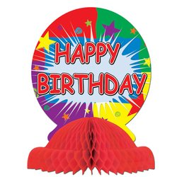 Happy Birthday Centerpiece Party Accessory (1 count) (1/Pkg) - 1