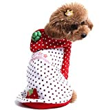 Alfie Couture Designer Pet Apparel – Rae Strawberry Costume – Color: Red, Size: M