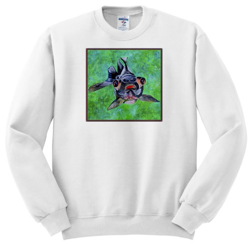 Ss_48473_4 Taiche - Acrylic Painting - Blackmoor Goldfish - Blackmoor Goldfish- Blackmoor Goldfish, Telescope Goldfish, Goldfish, Dragon Eye Goldfish - Sweatshirts - Adult Sweatshirt Xl
