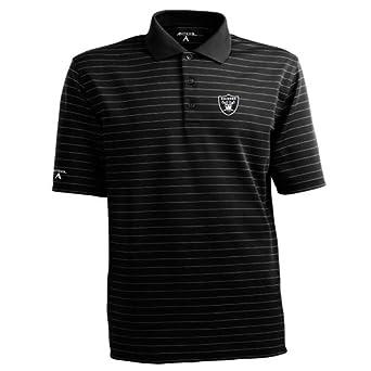 NFL Mens Oakland Raiders Elevate Desert Dry Polo Shirt by Antigua