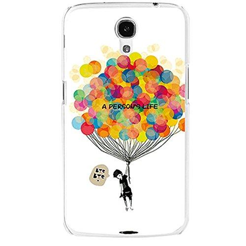 """EVTECH (TM) per Samsung Galaxy Mega 6,3 i9200 i9205, serie dipinti-Cover posteriore, stampa colorata fantasia """", colore: bianco"""