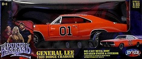 "1969 Dodge Charger ""General Lee"" Diecast Model Car Dukes Of Hazzard 1:18 Scale Die Cast By Ertl front-837267"