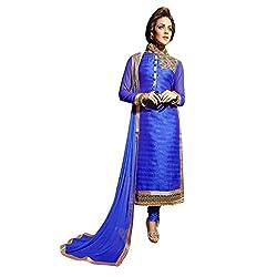 Aagaman Fashion Bhagalpuri Silk Readymade Salwar Salwar Suit (TSECSK101XS_Blue)