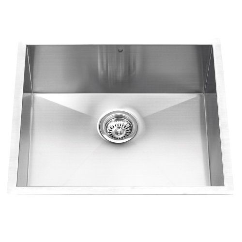 VIGO VG2320C 23-Inch Undermount 16 Gauge Single Bowl Kitchen Sink, Stainless Steel