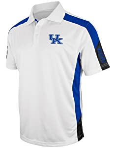 Kentucky Wildcats NCAA Bracket Performance Polo Shirt - White by Colosseum