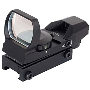 NcSTAR Red Dot Sight TACTICAL RED DOT WITH 4 DIFFERENT RETICLES/BLACK