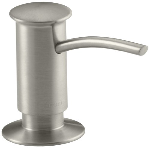 Kohler K-1895-C-BN Soap or Lotion Dispenser with Contemporary Design, Clam Shell Packed (Vibrant Brushed Nickel)