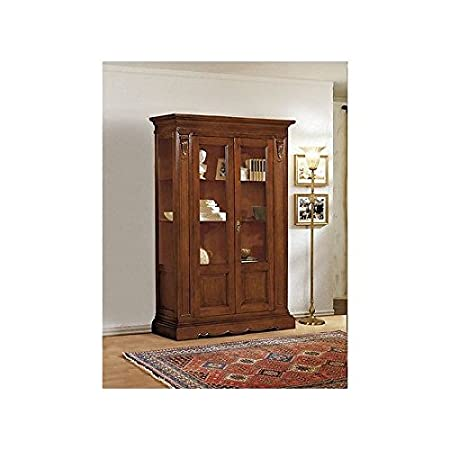 Display Cabinet Bookcase Solid Wood Carved Super price - as photo