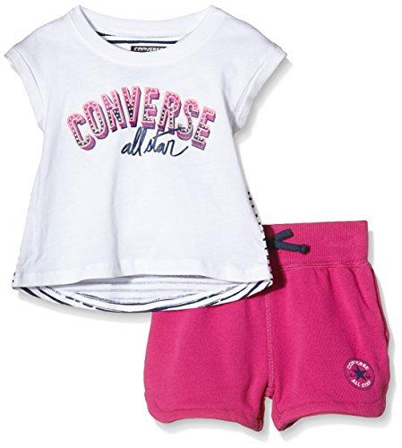 Converse Short-Set Bimbo 0-24, Multicolor (Plastic Pink), 2 Anni