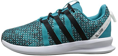 Adidas Originals Women's SL Loop Racer W Sneaker,Shock Green/Black/White,8.5 M US