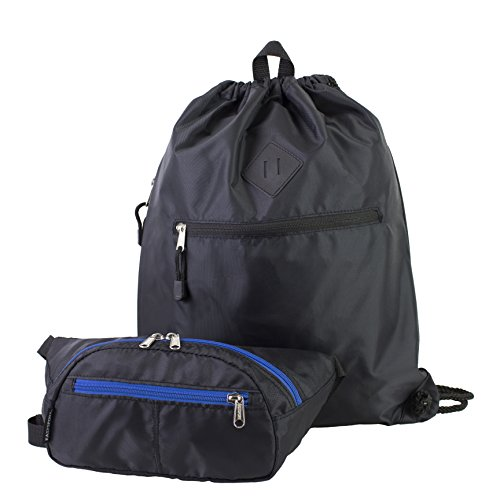 eastsport-drawstring-backpack-belt-bag-fanny-pack-bundle-black