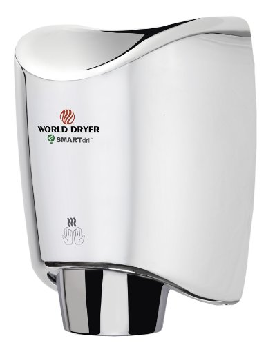 Smartdri Multi-Port Nozzle Hand Dryer Finish: Polished Stainless Steel, Voltage: 208-240 V