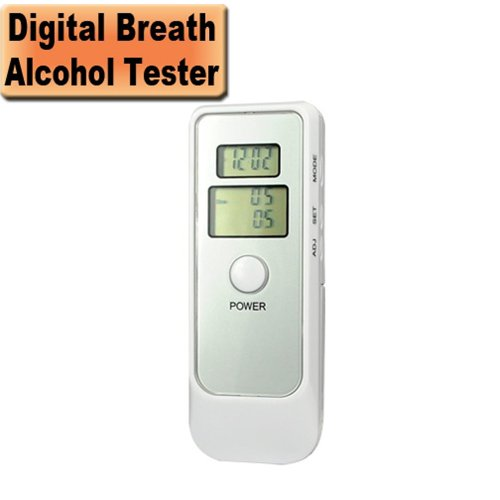 Image of 5 in 1 Digital LCD Breath Alcohol Tester Breathalyzer (B0093IAOOW)