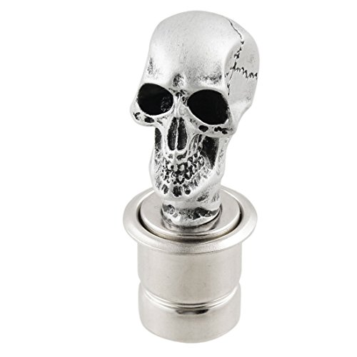 uxcell-Car-Silver-Tone-Skull-Head-Design-Cigarette-Lighter-Plug-DC-12V