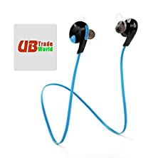 buy Genuine Bluetooth H7 Wireless Headset, Headphone, W/ Mic Lightweight Sweatproof, Sport Handsfree, Gym Running For Nokia X7-00 Symbian ++ Free Microfiber Sticky Screen Cleaner, Blue