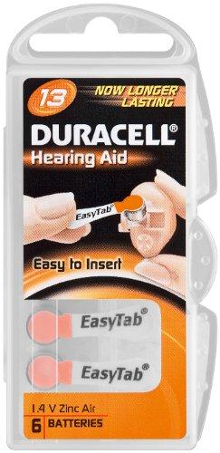 Duracell lot de 2 appareils auditifs cellules/piles boutons zinc-air-v13