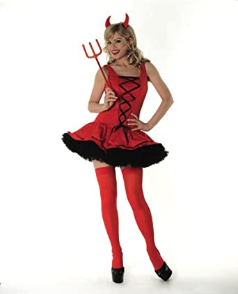 AXTokyo Womens Sexy Red Devil Halloween Costume Red And Black Tutu Skirt Plus Size