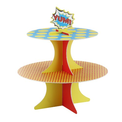 Ginger Ray Pop Art Superhero Party Cupcake Stand, Mixed