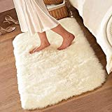 FADFAY ® Super Soft Solid Color White Carpet/Floor Rug/ Living room carpet/Area Rug(can be customized) 80*120cm