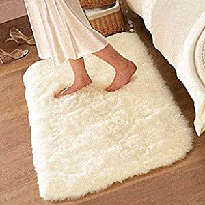FADFAY ® Super Soft Solid Color White Carpet/Floor Rug/ Living room
