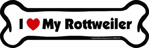 Imagine This Bone Car Magnet, I Love My Rottweiler , 2-Inch by 7-Inch (Rottweiler Refrigerator Magnets compare prices)