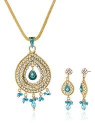 "AAKSHI ""Neele Rang Me Baarish Ki Boondein"" Ocean Blue Raindrops Jewellery Set (AKS_ST_CONB)"