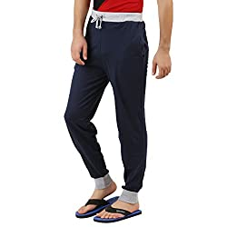 Style Shell Navy Men's Cotton Cuff Track Pants (Large) (Track_Rib_Navy_L)
