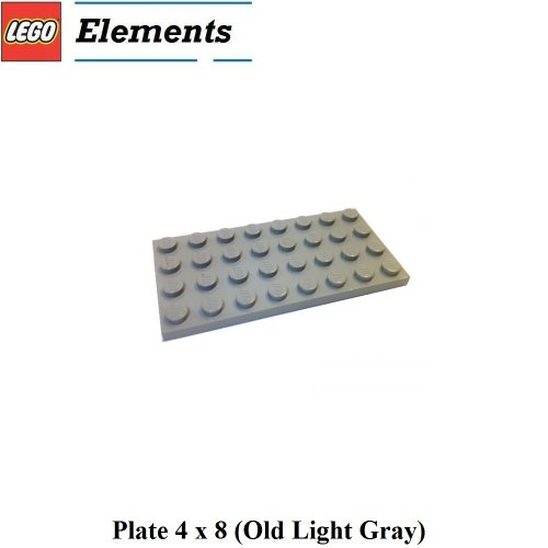 Lego Parts: Plate 4 x 8 (Old Light Gray) - 1