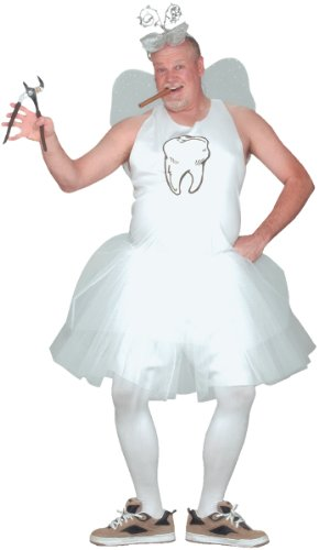 [Fun World 110144 Adult Tooth Fairy Costume] (White Fairy Costumes)