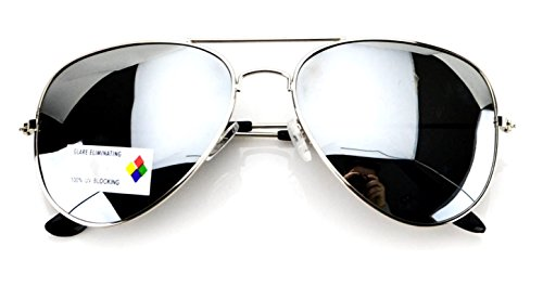 Aviator Full Silver Mirror