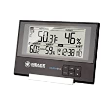 Meade TE256W Slim Line Personal Weather Station with Atomic Clock