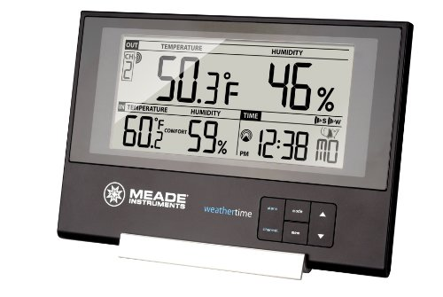 Meade Instruments TE256W Slim Line Personal Weather Station with Atomic Clock (Meade Indoor Outdoor Thermometer compare prices)