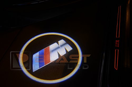 2Pc Bmw Car Door Led M Power Logo Ghost Shadow Projector Laser Courtesy Light
