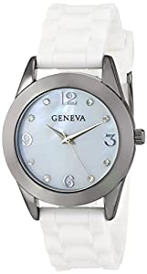 Geneva Moderate Women's AMZ10 Mother-Of-Pearl Stone Detail Dial Analog Watch