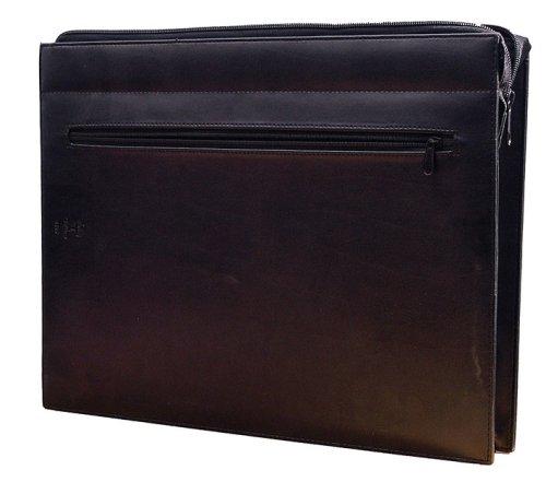 Cathedral - Porta documenti con cerniera, misura di foglio protocollo, colore: Nero
