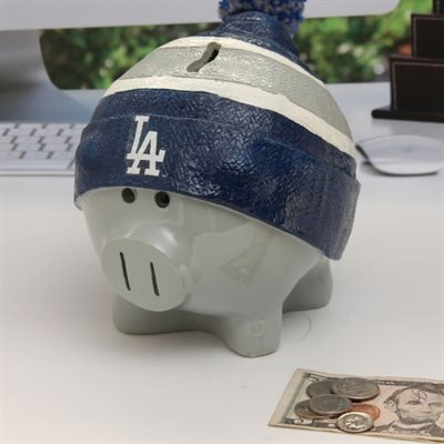 Los Angeles Dodgers Piggy Bank - Large With Hat by Forever Collectibles