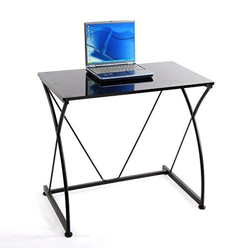 Simple Design Notebook Laptop Work Desk In Black