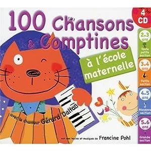 100 Chansons Et Comptines A La Maternelle (4 CD)