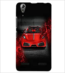 PrintDhaba Car Front D-3357 Back Case Cover for LENOVO A6000 PLUS (Multi-Coloured)