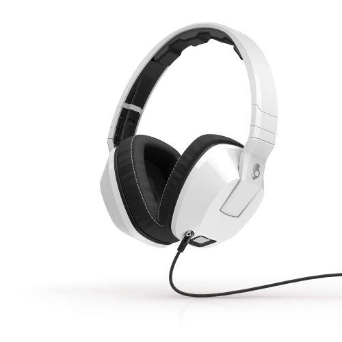Skullcandy Crusher Headphones With Built-In Amplifier & Mic, White (S6Scfz-072)