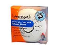 Fireangel Long Life Toast Proof Optical Smoke Alarm from Sprue Safety Products