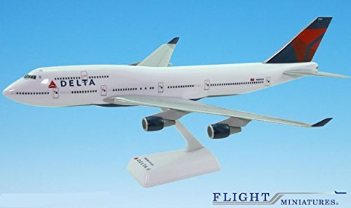 Delta (07-Cur) Boeing 747-400 Airplane Miniature Model Snap Fit 1:200 Part#ABO-74740H-019 (Delta Airlines Model compare prices)
